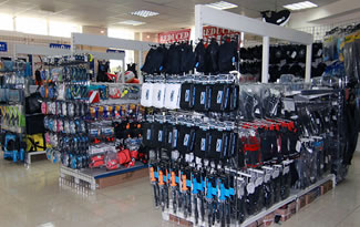 Specialist retail outlets for all your diving needs